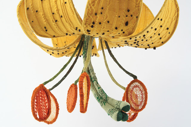 Tatyana Yanishevsky, Tiger Lily, 2011. Knitted yarn and steel. Photo by Karen Philippi.