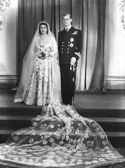 The queen's wedding gown was inspired by a painting
