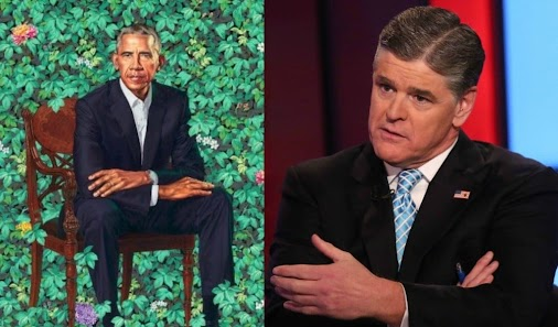 Sean Hannity calls Obama portrait sexually perverted.