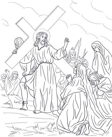 Dibujo De Octava Estación Jesús Consuela A Las Mujeres Para
