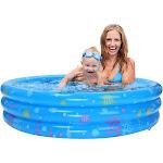Inflatable Kiddie Pool, Ball Pool, Family Kids Water Play Fun In Summer 59in