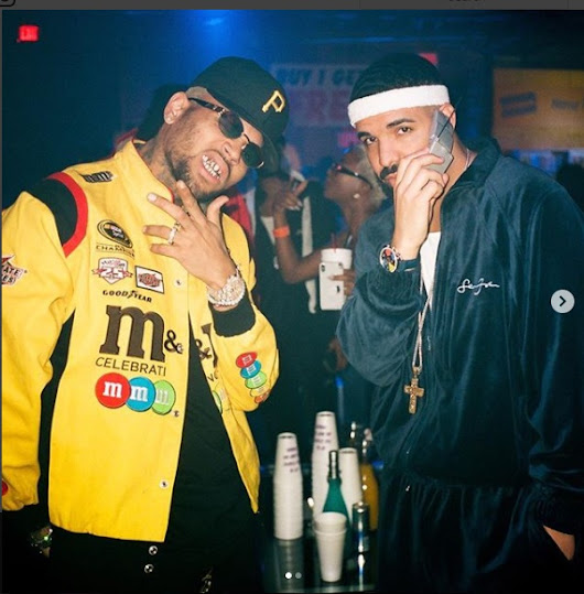 Chris Brown, Tory Lanez At Drake's 2000's Party