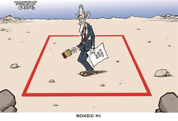 Coincé ! Vous souvenez-vous du régime US lançant en 2013 sa campagne de propagande sur les armes chimiques syriennes et avertissant de ne pas franchir les « lignes rouges » ?