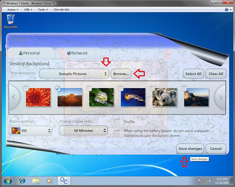 Change in Windows 7 Starter-program3.