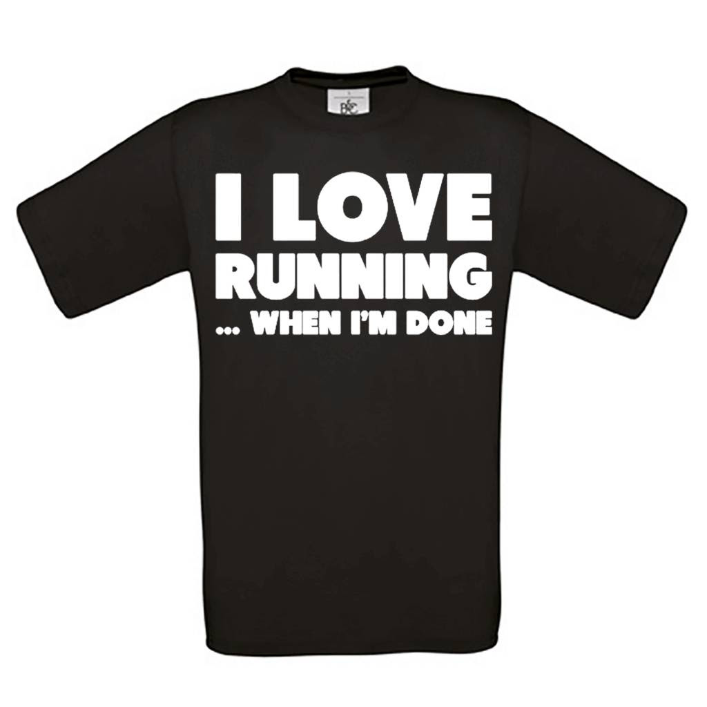 I Love Running When Im Done Shirtsvoorfun