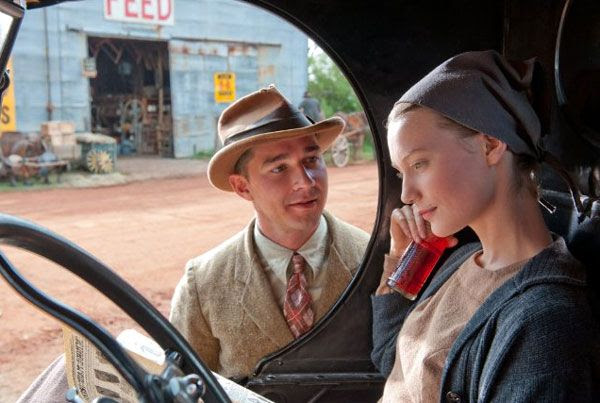 Shia LaBeouf as Jack Bondurant and Mia Wasikowska as Bertha Minnix in LAWLESS.