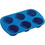 Wilton Easy Flex Silicone Muffin Pan, 6 Cavity