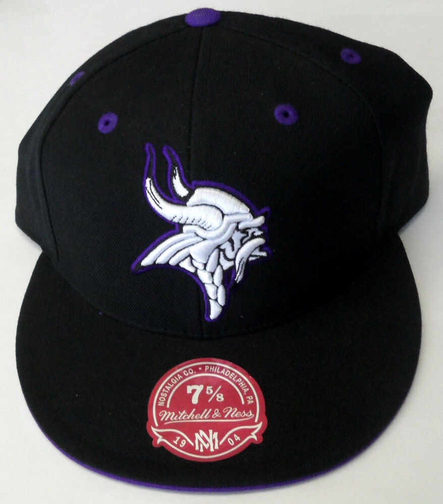 NFL Minnesota Vikings XL Logo Mitchell and Ness Vintage Cap Hat 7 5/8 MN NEW!  eBay