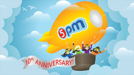 5pm celebrates 10-year anniversary!