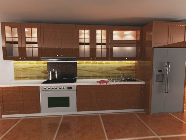 Desain dapur lurus gambarrrrrrr for Laci kitchen set