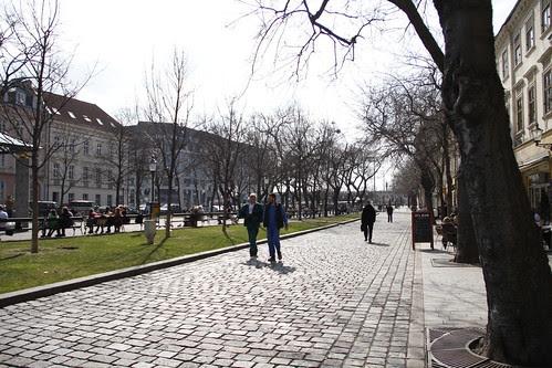 Walking around Bratislava