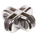 Econoco CON/4 Chrome 4-way Glass Cubby Connectors (Pack of 200)