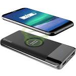 Aduro Powerup Wireless Charging 10,000mAh Dual USB Battery