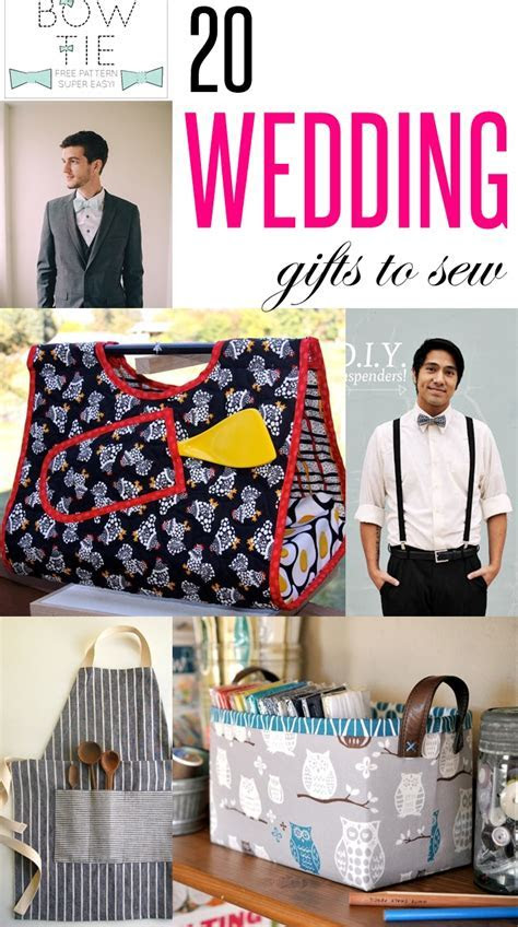 20 Wedding gifts to sew. These DIY practical wedding gift