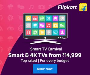 smart &4k tvs from 14,999