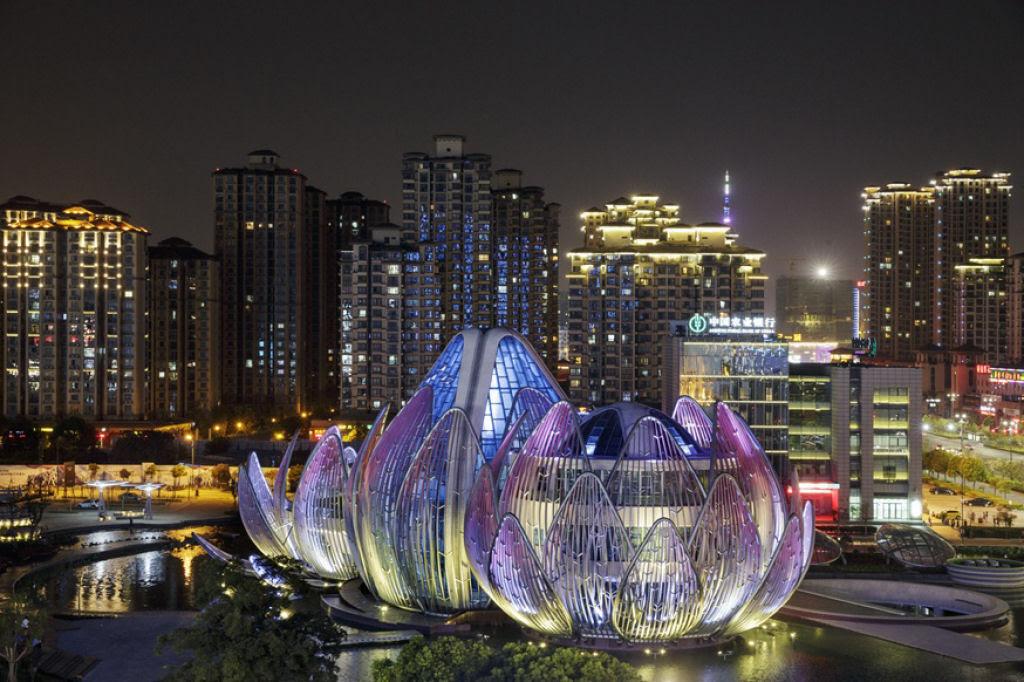O edifício em forma de flor lótus em Wujin, na China 09