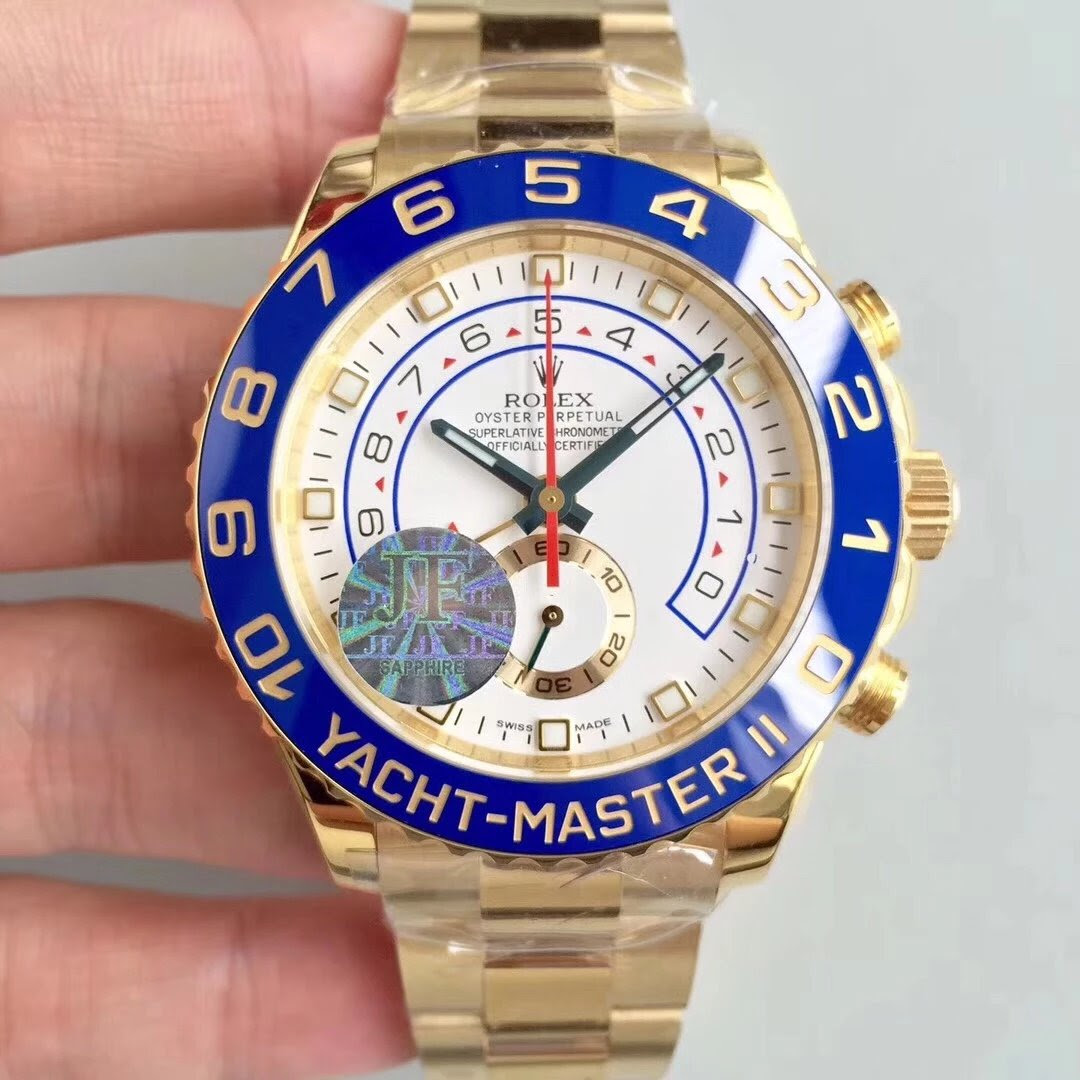 JF Rolex YachtMaster II Yellow Gold Replica