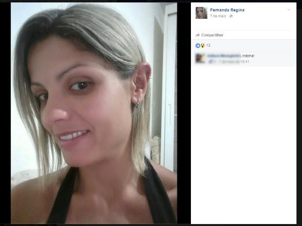 Fernada Regina Cézar, vítima de cotovelada em 2014, diz ter sido agredida novamente em São Roque (Foto: Reprodução/Facebook)