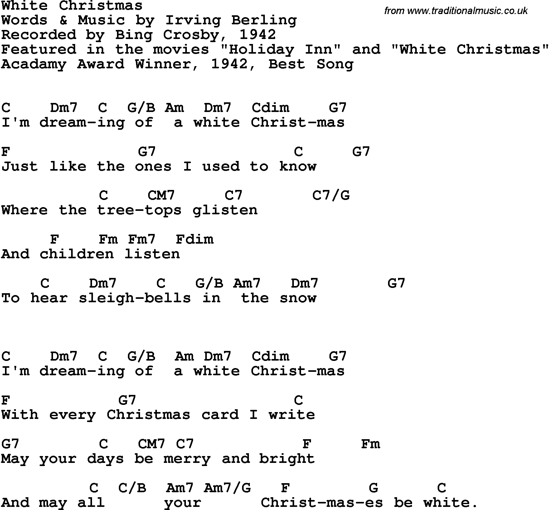 White christmas chords 2015confession white christmas chords hexwebz Image collections