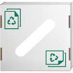 Forest Grass USA Waste and Recycling Bin Lid, Paper, White, 10/Carton