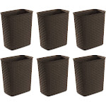 Sterilite Weave 5.8 Gallon Plastic Home/Office Wastebasket Trash Can (6 Pack) at Spreetail (VMinnovations | VM Express)