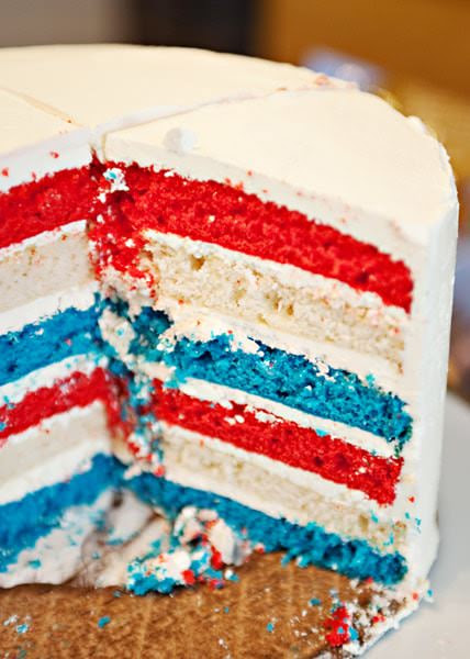 flag cake with buttercream frosting recipe