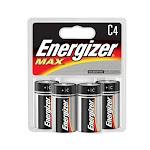 Energizer Max C4 Alkaline Battery - 4 Ea