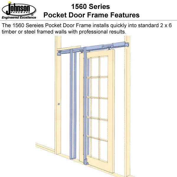 Johnson Hardware 1560sc Soft Close Pocket Door Frame
