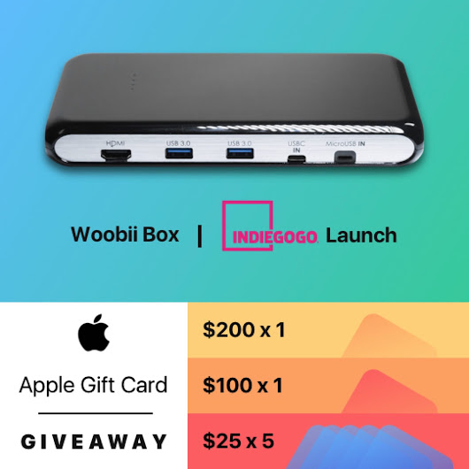 Woobiibox Indiegogo Launch Giveaway: Join and Win $200 Apple Store Gift Card