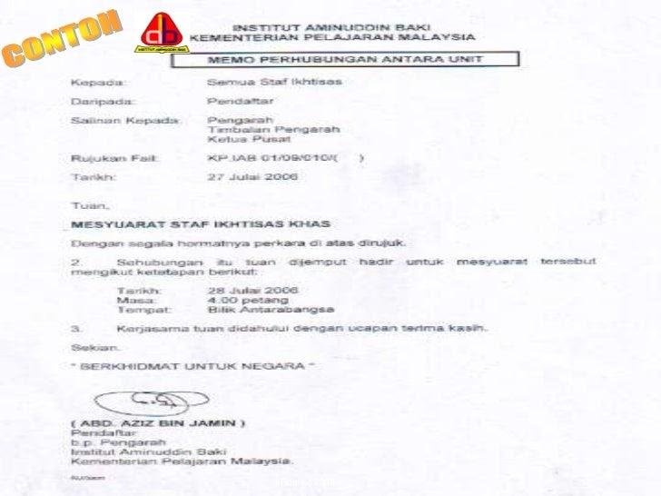Surat Rasmi Kerajaan Malaysia Surat Rasmi Ra