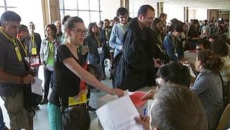 Votacions a l'assemblea de la CUP a Esparreguera