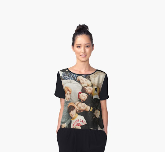 'BTS' Women's Chiffon Top by Pahhs