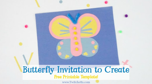 How to make an easy paper butterfly for kids - Twitchetts