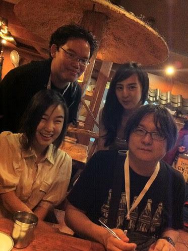 With actress Eunah So