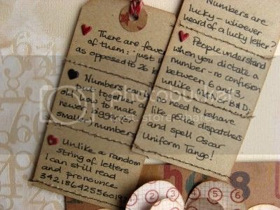 Layout detail - reasons to love numbers tags