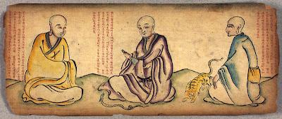 Buddhist monks in Tibetan album