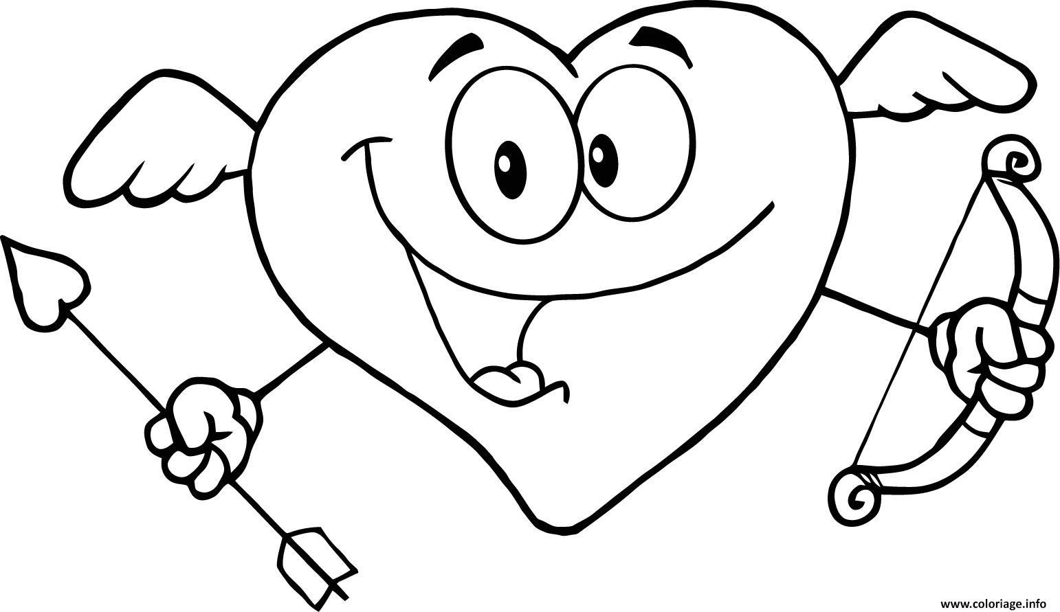 Coloriage Coeur Saint Valentin 138 Dessin  Imprimer