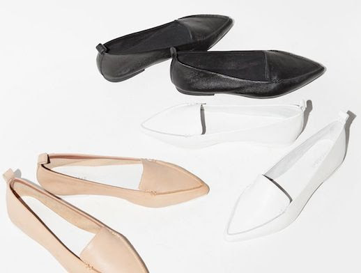 Le Fashion Blog Shoe Crush Jeffrey Campbell Vionnet Classic Pointy Toe Flats 100 Budget Friendly Black White Nude Loafers