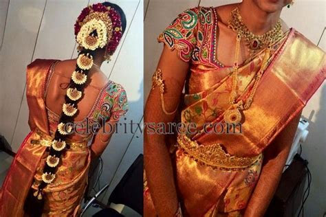 Bride in Colorful Stones Blouse   Heavy work bridal blouse