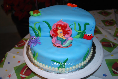 little mermaid cake - front