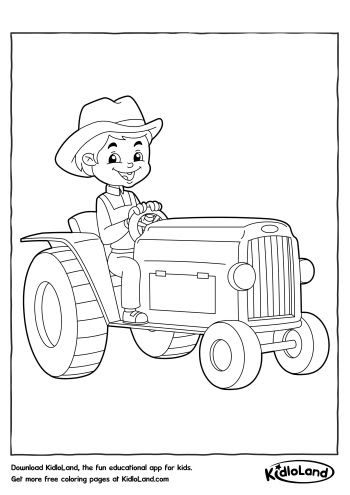 boy on a tractor coloring page  free printables for your