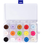 105pcs Buttons Lot Assorted Color Resin Buttons for Crafts Sewing DIY, 4 Hole, Multicolor