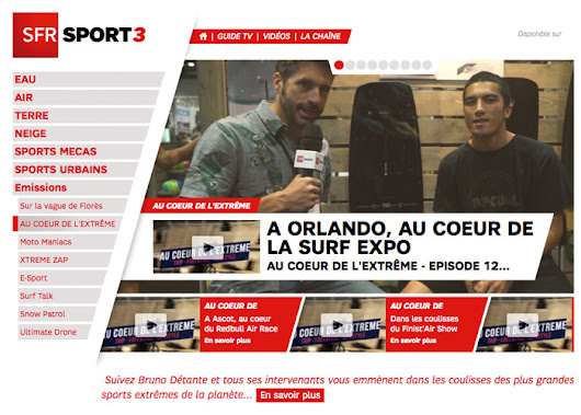 SFR SPORT 3 | French TV at SURFEXPO Orlando -