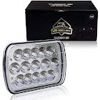 TURBOSII DOT Approved 45w Rectangle 5x7 7x6 LED Headlights Hi/Low Sealed Beam H6054 H5054 6052 Headlight