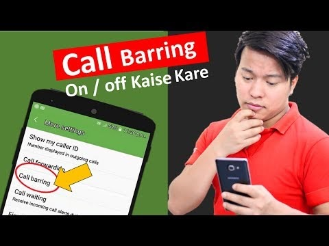 What is Call Barring ? Turn on / off on Android phone & iphone