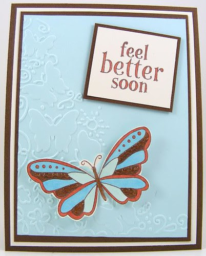 Feel Better Butterfly Card