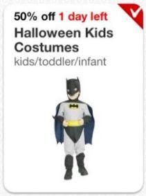 halloween costumes 223x300 Target Cartweel Halloween Costume Deal   50% Off Kids Costumes and Accessories!