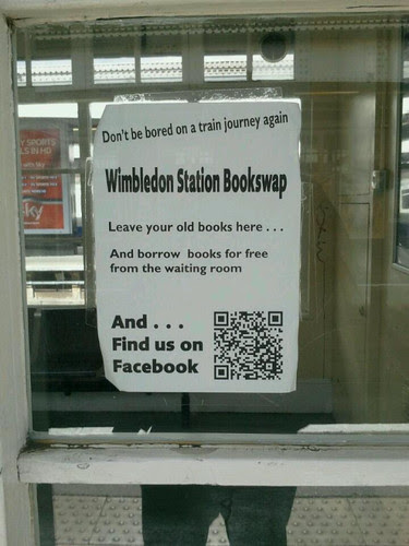 Wimbledon Station Bookswap. What a good idea (& good use of QR)
