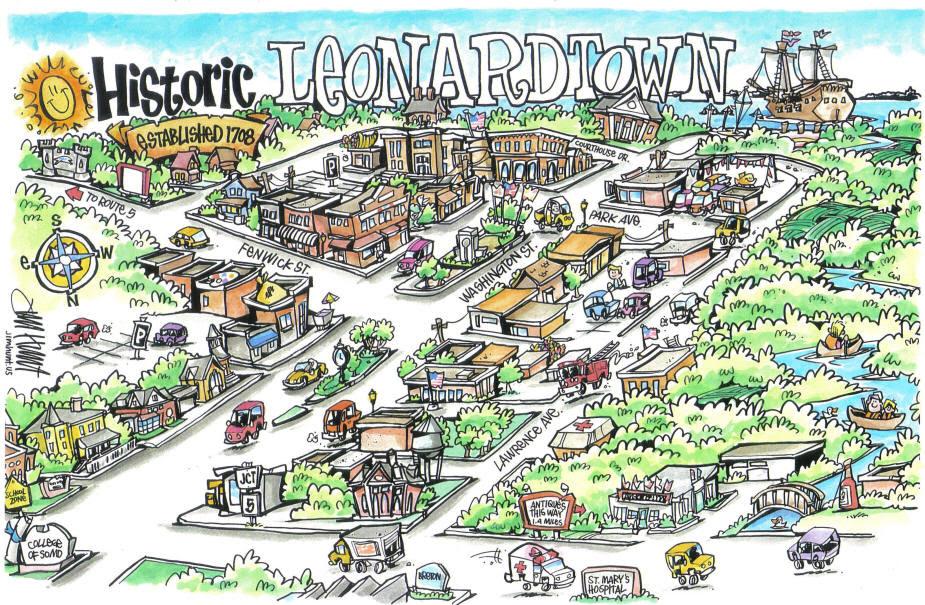 LuxleBlog: cartoon town maps on