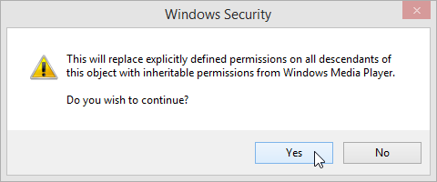 Windows 8.1 Explicitly Defined Permissions